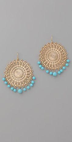 #Lisa_Stewart Beaded Fan Earrings $128