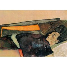 The Artists Mother sleeping 1911 Canvas Art - Egon Schiele (24 x 36)