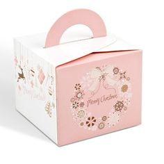Pink Christmas Box Cake Box Cheese Cookie Cake Boxes Christmas Food Gift Packaging Cardboard Paper Boxes ...