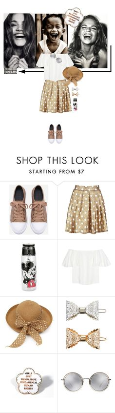 """laugh all the time and follow your dreams"" by katymill ❤ liked on Polyvore featuring Boohoo, Valentino, Accessorize, Linda Farrow and Sass & Belle"