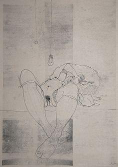 "Michael Lentz; Ink 2014 Drawing ""NUDE No. 2174"