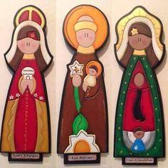 Artesanias Virgenes En Mdf - Bs. 3.800,00 Baptism Favors, Wood Carving, Handicraft, Wood Art, Nativity, Religion, Diy Crafts, Crafty, Christmas Ornaments