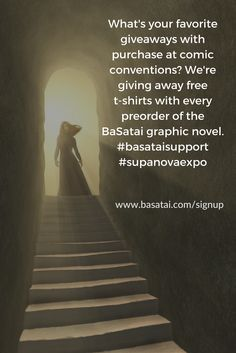 What's your favorite giveaways at #comiccon We're planning a massive T-Shirt #giveaway as part of any preorders for the #graphicnovel BaSatai. We're relaunching the second edition of the book and will also have coupons and online T-Shirt campaigns. Any ideas? And if you're going to #supanovaexpo in Sydney come stop by our BaSatai Booth we'll be in #artistalley