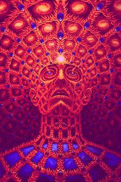 "Psy Art - ""Ever Done Shrooms? Tool Artwork, Alex Gray Art, Tool Tattoo, Psychadelic Art, Cosmic Art, Tool Band, Sacred Geometry Tattoo, Psy Art, After Life"