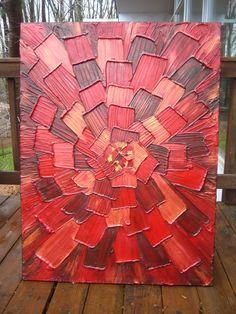 30 x 40 Custom Original Abstract Heavy Impasto by artoftexture