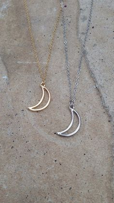 Crescent+Moon+Necklace+WitchWear++by+VelvetMuseLingerie+on+Etsy,+$18.00