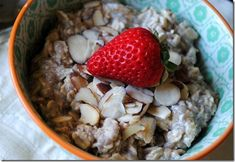 Overnight oats. Something to try in the summer when cold breakfasts are welcome :)