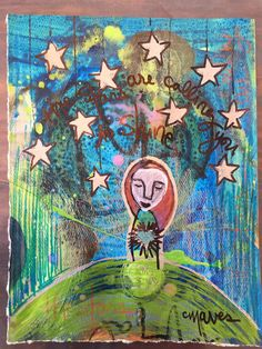 The Stars Are Calling You To Shine  original by LaurieMavesARTsy