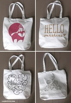 Make A New Summer Tote With Glitter Iron-On