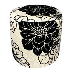 Ottoman in black n white