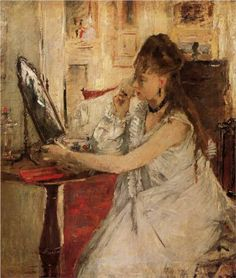 Young Woman Powdering her Face - Berthe Morisot, 1877