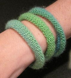 Another version of knitted bracelet on Ravelry