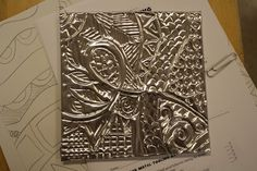 metal artwork, art lessons, art blog, middle school art, metal tool