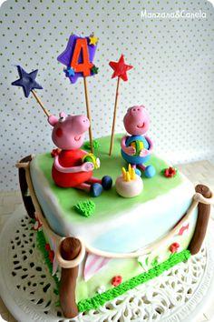 Manzana : Tarta de Peppa Pig para el cumpleaños de Sara