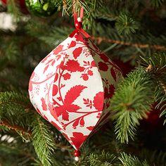 Decorated Papier Mache Christmas Ornament