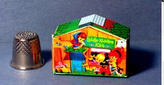 Liddle Kiddles Klub House  -  Dollhouse Miniature - 1:12 scale - 1960s Liddle Kiddles Diorama or 1960s Dollhouse Accessory  girl nursery toy by LCminiatures on Etsy https://www.etsy.com/listing/491546304/liddle-kiddles-klub-house-dollhouse