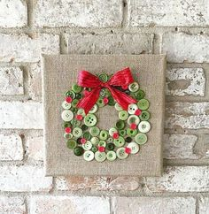 cool Christmas burlap button wreath art by www.dana-home-dec. - Home Decors - awesome cool Christmas burlap button wreath art by www.dana-home-dec…… by www.danazhomedeco… I - Diy Christmas Decorations Easy, Easy Christmas Crafts, Noel Christmas, Christmas Projects, Winter Christmas, Handmade Christmas, Christmas Wreaths, Christmas Gifts, Christmas Ornaments