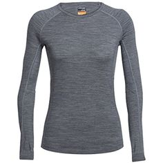 Icebreaker Zone Crewe Women's Running Top *** Click image to review more details. (This is an affiliate link) #BaseLayers