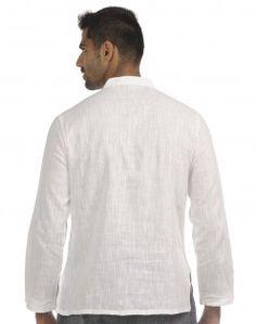 Cotton Khadi Fine Lucknavi Super Short Kurta