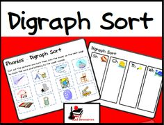 Free Digraph Picture Sort   Sorting by sounds is an important phonics skill for prereaders. This Digraph Picture Sort gives students a variety of pictures that can be sorted using the four most common digraphs. You can download this free sort from my Teachers Pay Teachers store.  centers consonant digraphs digraphs Phonics phonics center phonics intervention picture sort PK - 1 Raki's Rad Resources