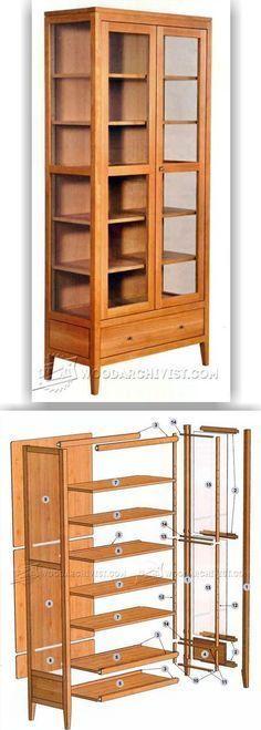 Showcase Cabinet Plans - Furniture Plans and Projects | WoodArchivist.com #WoodcraftPlans