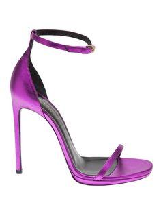 SAINT LAURENT - metallic ankle strap sandal 6