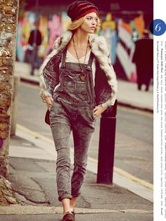 FP September Catalog:  Cord Overalls + Artsy Accessories