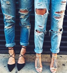 shredded boyfriend jeans for dayyyys