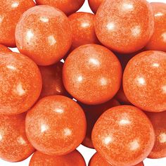 Shimmer Orange Large Gumballs - OrientalTrading.com $9 for 2 lbs