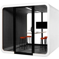Framery is a meeting pod acoustically insulated and designed to hold people. Framery is ideal for private meetings and work groups… Office Noise, Formica Laminate, Laminated Glass, Meeting Table, Table Height, Commercial Furniture, Office Interiors, Home Projects, Layout