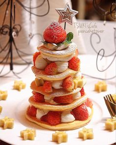 Media?size=l Cute Desserts, Sweets Recipes, Snack Recipes, Pancake Shop, Best Food Ever, Strawberry Desserts, Dessert Drinks, Sweet Cakes, Christmas Desserts