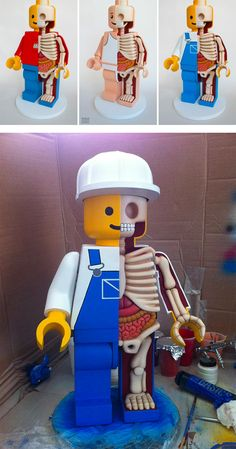 Jason Freeny's Giant Dissected Lego Men