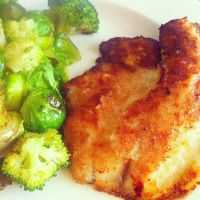 Honey Lime Tilapia -- simple and good. Honey taste comes out nicely. Used panko instead of flour.