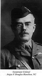Victoria Cross winner Lieutenant Colonel Angus F Douglas-Hamilton Loos 25th and 26th september 1915