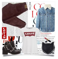 """Levi's Mood"" by fashionaddict-il ❤ liked on Polyvore featuring Oris, Levi's, Zara, STELLA McCARTNEY and Chanel"