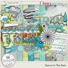 Dance In The Rain digital scrapbooking kit by Simple Girl Scraps available at GingerScraps