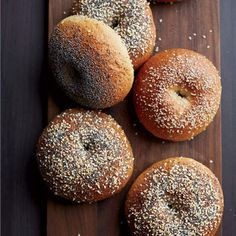 The trick to these crisp, chewy bagels is the poolish, a fermentation starter (also known as a mother dough) made with bread flour, yeast, and water. It is quickly assembled the night before the bagels are made.