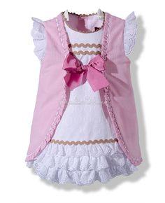 Vestido rosa a rayas
