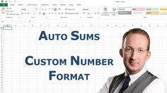*Excel Auto Sums and Custom Number Format* Peter Kalmstrom shows four ways to make Excel summarize cell values and one way to add a custom number format. Also refer to http://www.kalmstrom.com/Tips/ExcelAutoSum.htm