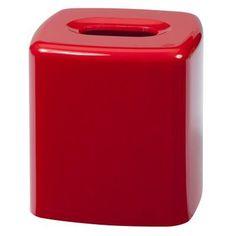 Creative Bath Products Gems Boutique Tissue Holder Red - GEM58RED