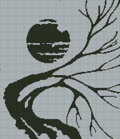 ru / Photo # 84 - still monochrome jacquard + - irisha-ira Knitting Charts, Knitting Patterns, Crochet Patterns, Cross Stitch Kits, Cross Stitch Patterns, Cross Stitch Silhouette, Instalation Art, Crochet Christmas Decorations, Plastic Canvas Patterns