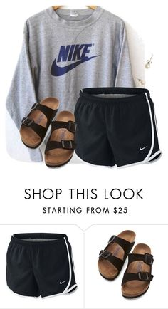 Comment if you love Liza Koshy... by flroasburn on Polyvore featuring NIKE, Birkenstock and J.Crew