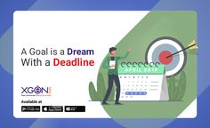 A Goal is a Dream with a Deadline Friday is the best day to set next week goal. Have you set your Goal this Set Your Goals, Friday Feeling, Calendar, App, Quotes, Quotations, Apps, Life Planner, Quote