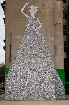 Les peintures murales de BLU BLU peinture murale graffiti varsivue featured design art