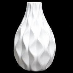 Embossed Wave Design Vase