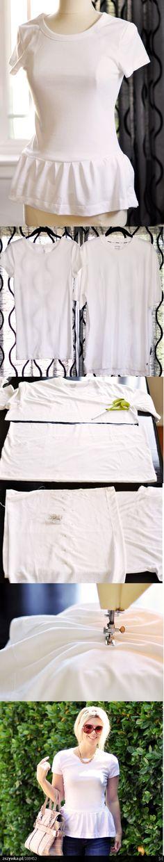 DIY Camiseta Peplum