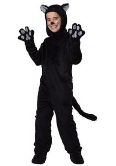 Kids Black Cat Costume Little Kitten Cosplay Costume Animal Onesie Fancy Dress Jumpsuit with Headwear Paws Toddlers For Children Black Cat Halloween Costume, Cat Costume Kids, Black Cat Costumes, Halloween Fancy Dress, Black Costume, Halloween Cosplay, Goofy Costume, Cat Cosplay, Disney Halloween