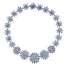 Asprey Heritage Daisy Aquamarine Diamond Gold Necklace Daisy Ring, Aqua Marine, Fine Jewelry, Jewellery, 18k Gold, Jewelry Design, Gold Necklace, White Gold, Gemstones