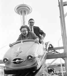 Rollercoaster - Seattle 1960s ... Love the look of pure Joy on their faces! :)
