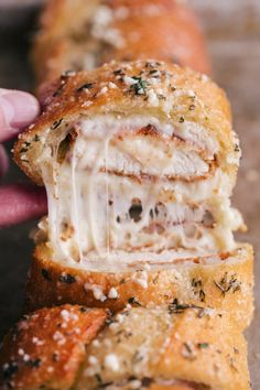 Cheesy Parmesan Chicken Garlic Bread is just about the greatest thing that has happened to bread ever.  Bursting with rich buttery flavor and cheesy parmesan chicken you are missing out if you don't give this a try.
